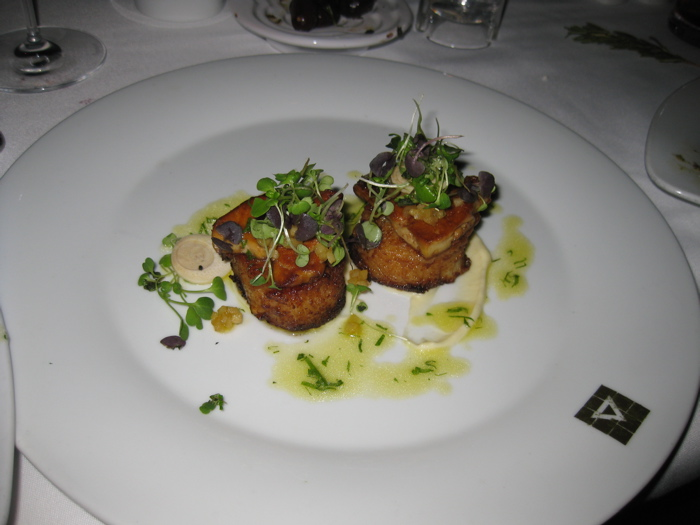 Dio Deka foie and scallops