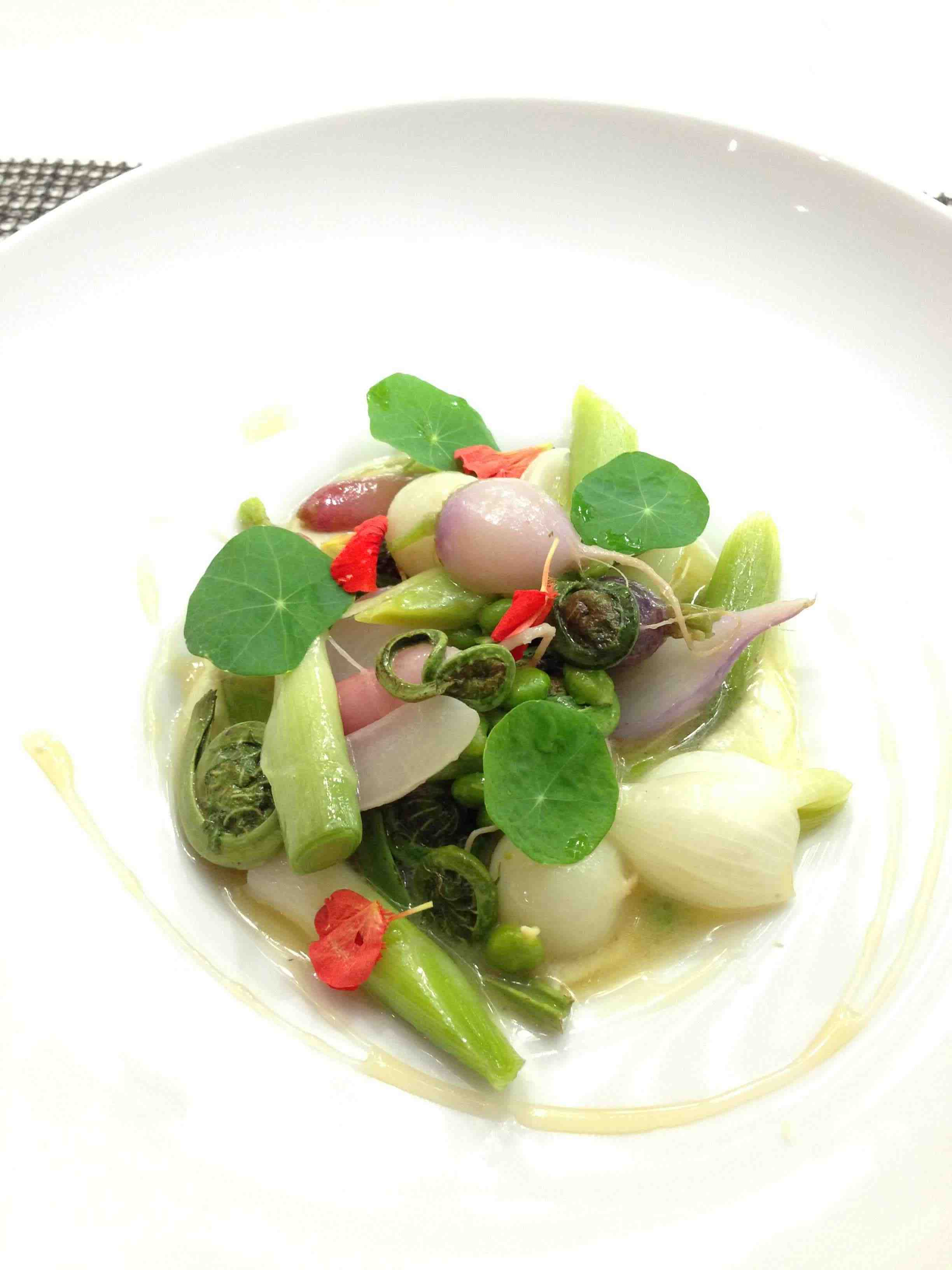 Elm Glazed Spring Vegetables