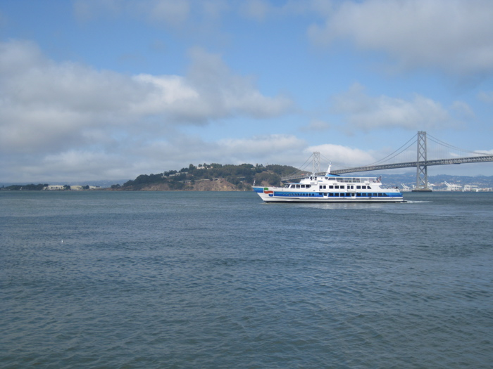 View from Hog Island Oysters at the Ferry Building