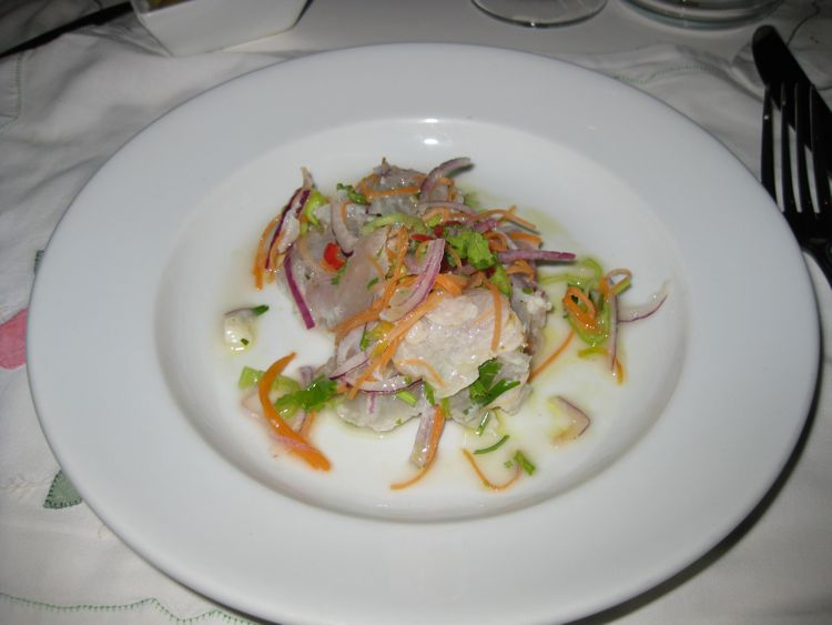 Ceviche at Maya's