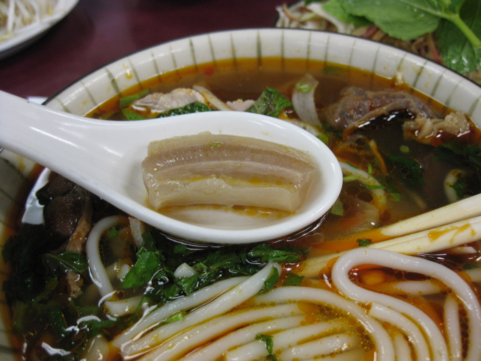 Ox penis in bun bo hue.