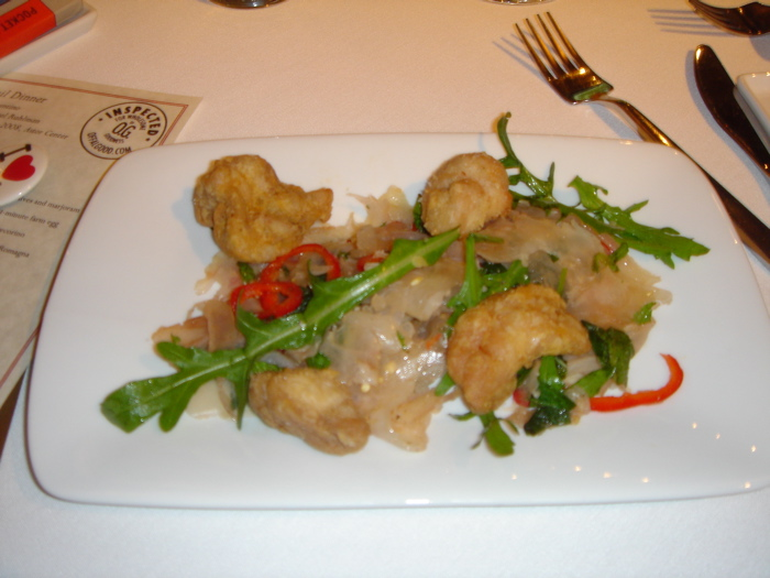 Sweetbreads and Tendon Salad